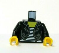 Lego 1 Body Torso For Female Girl Minifigure Figure Black Leather Jacket