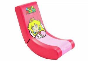 Nintendo X Rocker Super Mario Pink Junior Gaming Chair Princess Peach BNIB