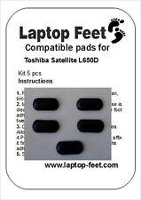 Laptop Rubber feet compatible for Toshiba Satellite L650D/Pro C650  (5p. 3M adh)