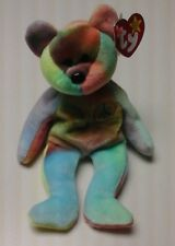 PEACE THE RETIRED MULTI COLOR BEAR NEW WITH ALL TAGS HAND MADE IN CHINA /TIE DYE