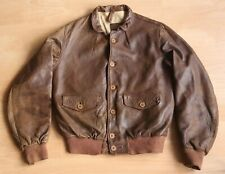 """Vintage 1930s A-1 Cossack Leather Jacket,  Fits 38""""/40"""""""