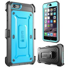 "iPhone 6S Plus 5.5"" Blue Case SUPCASE [ Rugged Heavy Duty] Belt Clip Holster"