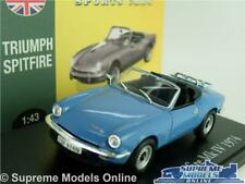 TRIUMPH SPITFIRE MK IV CAR MODEL BLUE 1974 1:43 SIZE ATLAS NOREV MK4 MARK FOUR T