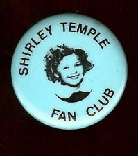 SHIRLEY TEMPLE DOLL advertising pin FAN CLUB