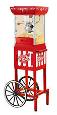 "New Nostalgia Electric 48"" Popcorn Maker Cart Stand Kettle Popper Ccp399 Vintage"