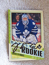 Toronto Maple Leafs Jussi Rynnas Signed 12/13 O-Pee-Chee Marquee Rookie Card
