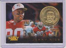 1996 PINNACLE MINT JERRY RICE BRASS COIN & CARD #16 ~ SAN FRANCISCO 49ERS ~ QNTY
