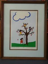 SIGNED, Limited Edition lithograph: Donodrea's Children - The Apple Pickers