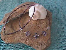 Glass Bead Lavender Necklace