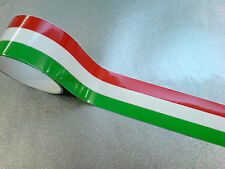 "ITALIAN STRIPED TAPE 50"" x 2"" Strip LAMINATED for extra durability 1 off"