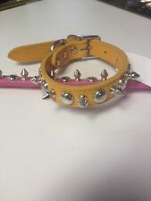 "1/2"" X 16"" Leather Stud & Spike Dog Collars made in the USA"