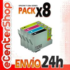 8 Cartuchos T1281 T1282 T1283 T1284 NON-OEM Epson Stylus SX438W 24H