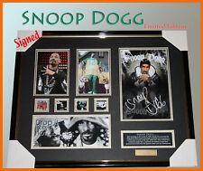SNOOP DOGG  MUSIC MEMORABILIA SIGNED FRAMED LTD EDTION
