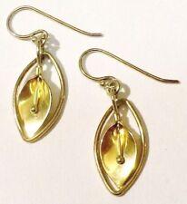 Bijou Vintage boucles d'oreilles percées couleur or argent fleur arôme * 4026