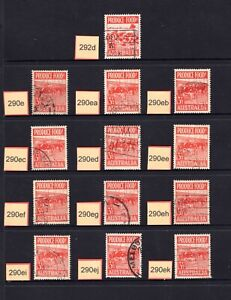 AUSTRALIA 1953 31/2d RED FOOD STAMP WITH ALL THE LISTED ACSC FLAWS - CV $380