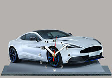 MODEL CARS, ASTON MARTIN -05 with Clock 11,8x 7,8 inches and aluminium