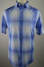 Premium men's Ted Baker pastel blue check short sleeved shirt XXL Ted 6