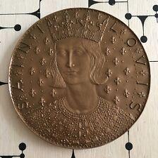 Médaille Bronze 7ème Centenaire de la Mort de Saint-Louis 1970 French Medal
