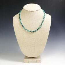 Native American Santo Domingo Turquoise Shell Heishi Single Strand Necklace