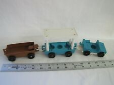 Vintage Fisher Price Little People ZOO TRAIN TRAM 3 CARS Flatbed Covered #916