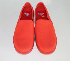 Women's Dr Martens Finchley Slip On Shoe, Red Canvas - Size US 10
