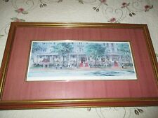 VTG Print- The Red Lion Inn Signed David Zwillinger Matted Framed Daville Art