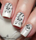 French Flower Nail Art Sticker Water Transfer Decal Tattoo 24