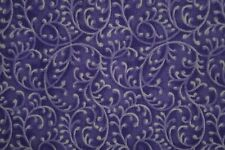 FANCY PURPLE FLORAL VINE 100% Cotton  Fabric *by the 1/2 yard* BTHY