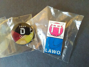 2020 Tokyo Olympic Games 202One LAWO GERMANY NOC PIN Team D 2 Pin LOT