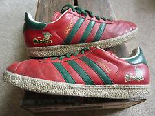 Adidas Gazelle Marrakech Entrenadores Rojo Tamaño 9/43 EUR 2007 Edición Rara mod emo