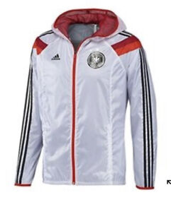 Adidas Germany Soccer Jacket Deutscher Fussball-bund NWT White Rwd Black