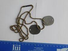 ww 2 dog tag us navy soldat mc collum elba 1942 avec sa chaine us