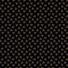 Deathly Hallows Metallic - Harry Potter Cotton Fabric Material