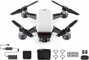 DJI Spark, Fly More Combo, Alpine White with Remote Controller