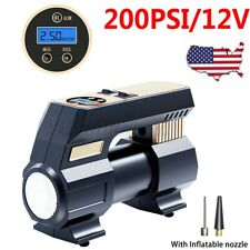 200PSI Portable Car Auto Tire Inflator Air Pump Compressor Electric DIgital 12V