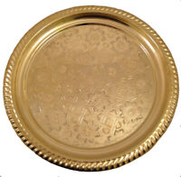 Teetablett ohne Randmuster Gold 33cm