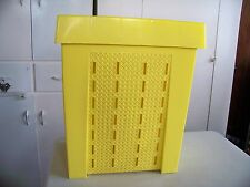 VTG RETRO MCM SHAMROCK NEATWAY PLASTIC CLOTHES HAMPER FAUX WICKER MADE IN USA