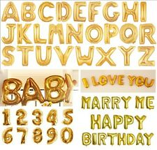 Gold Numbers Letters Balloons for Party Celebration Birthday Decoration 40