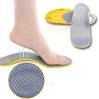 New 1Pair Orthotic Shoes Insoles Insert High Arch Support Pad For Women Men