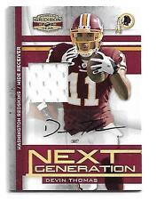 2008 Gridiron Gear Devin Thomas Autograph Jersey #30/50 Washington Redskins
