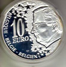 BELGIQUE Argent 10 Euro 50 ans Ligne Nord Sud 2004