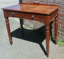 Regency Georgian antique solid mahogany country house 2drawer writing table desk