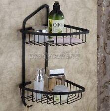 Oil Rubbed Bronze Bathroom Shower Caddy Corner Basket Storage Shelves Pba067