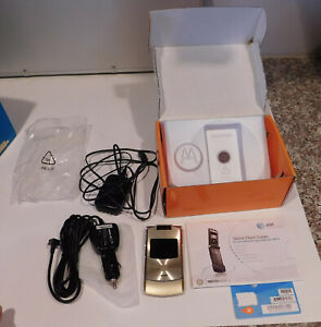 Motorola Motorazr Razr Gold Flip Phone Model V3xx Used