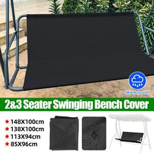 Black Water Proof Swing Cover Chair Bench Replacement Waterproof Patio Garden