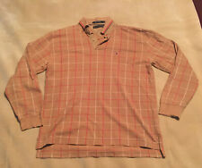 Mens Tommy Hilfiger Long Sleeve Polo Type Shirt Top Checked Size XL Good Cond