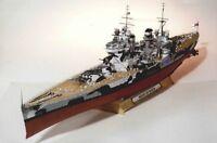 DIY Handcraft Paper Model Kit 1:200 Scale HMS Prince of Wales V-class Battleship