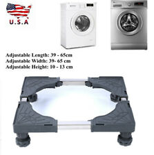 Adjustable Washing Machine Base Refrigerator Undercarriage Bracket Stand Holder