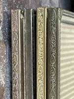 "Vintage Metal Ornate Gold Silver Tone Picture Frames For 8x10"" Photos Lot Of 4"