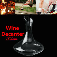 1.5L Luxuriou Crystal Glass Lead-free Wine Decanter Carafe Wine Pourer Bottle !